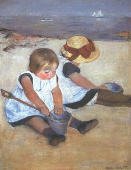 Mary Cassatt, Kinder am Strand, 1884